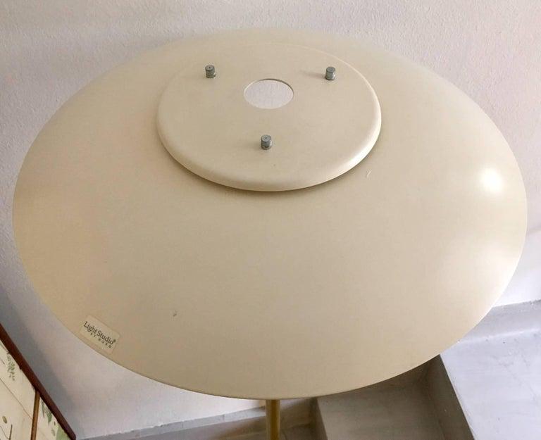 Danish Light Studio by Horn Brass Floor Lamp, Model 1585 For Sale