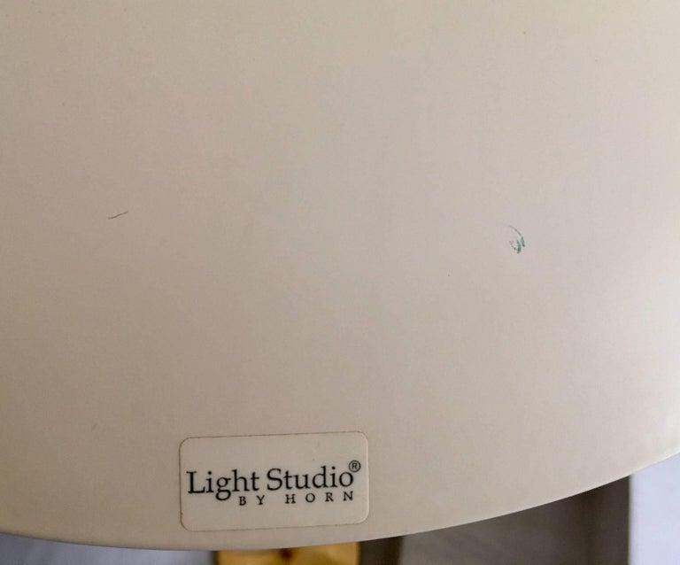 Metal Light Studio by Horn Brass Floor Lamp, Model 1585 For Sale
