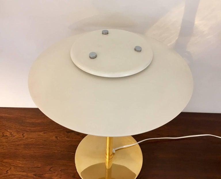 Scandinavian Modern Light Studio by Horn White Table Lamp, Model 2686 For Sale