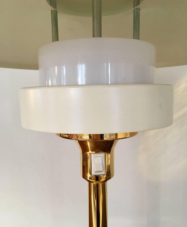 Danish Light Studio by Horn White Table Lamp, Model 2686 For Sale
