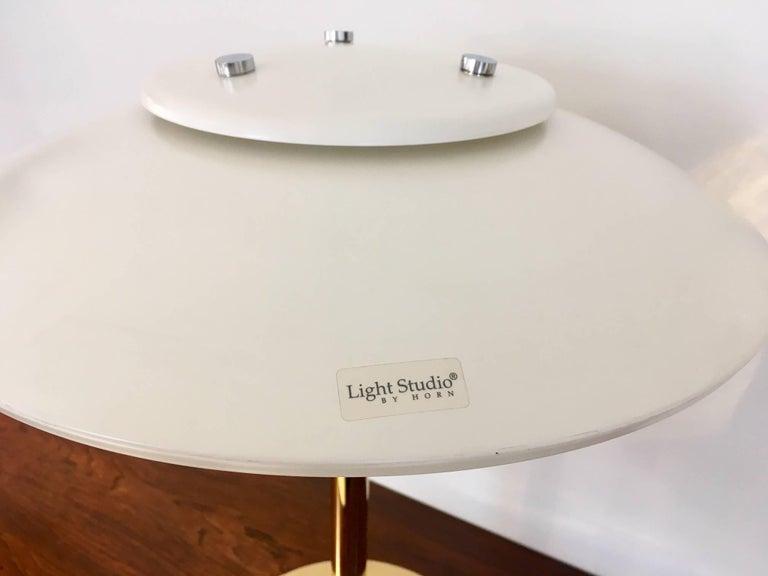 20th Century Light Studio by Horn White Table Lamp, Model 2686 For Sale