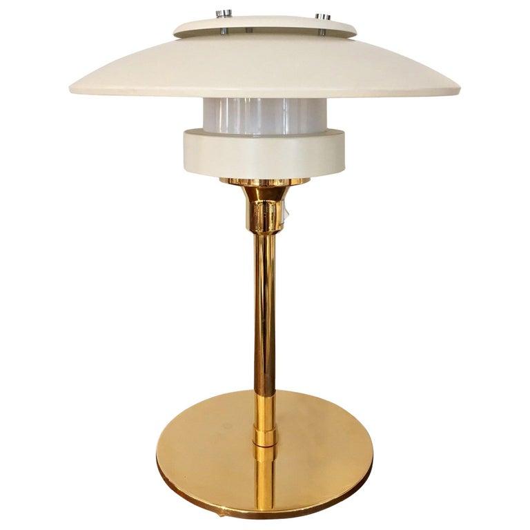 Light Studio by Horn White Table Lamp, Model 2686 For Sale