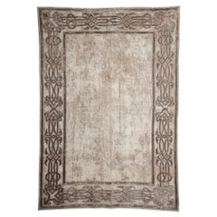 Light Taupe Velvet Throw with Braided Embroidery by Zuber