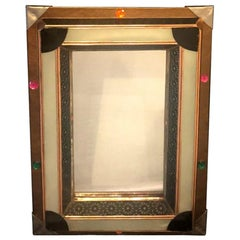 Lighted Art Deco Moroccan Style Vanity Mirror or Wall Mirror