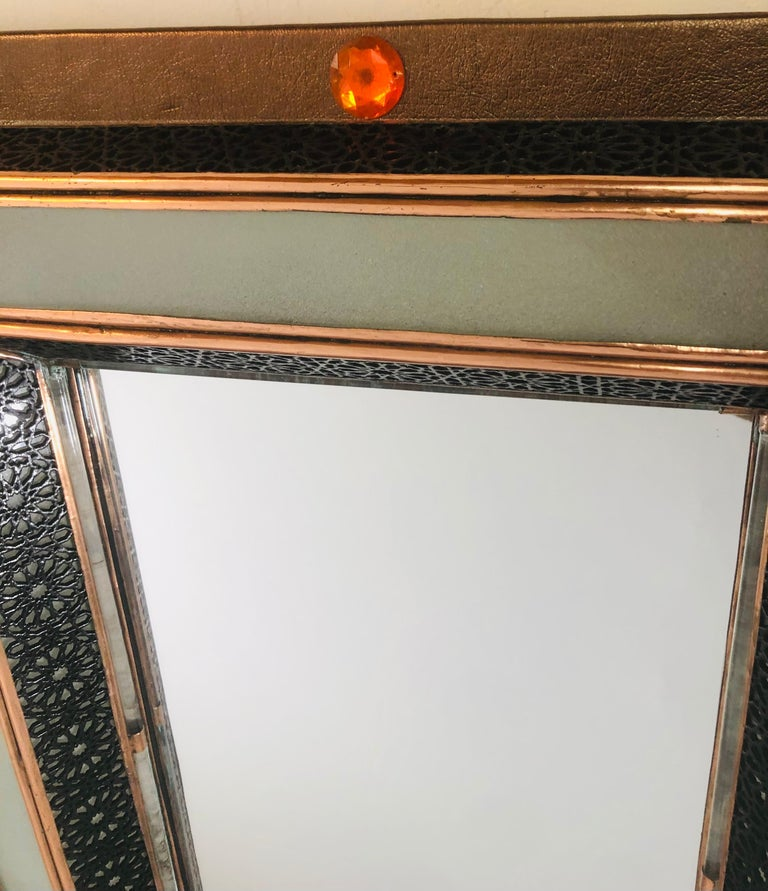 Late 20th Century Lighted Art Deco Style Vanity Mirror or Wall Mirror For Sale