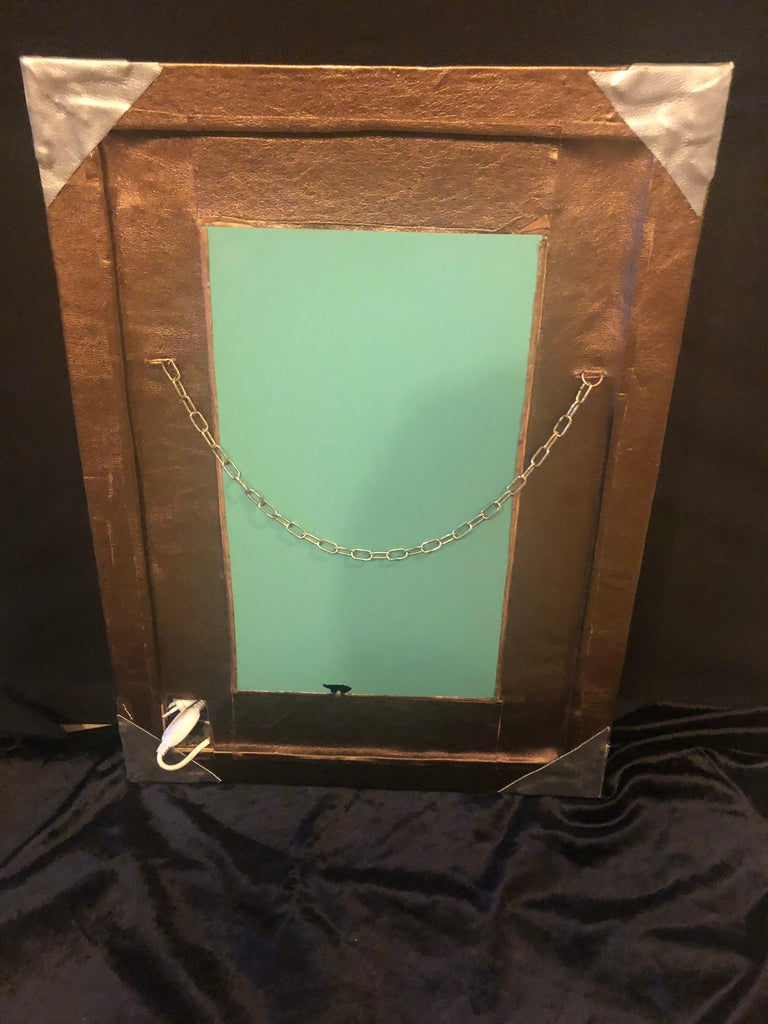Lighted Art Deco Style Vanity Mirror or Wall Mirror For Sale 6
