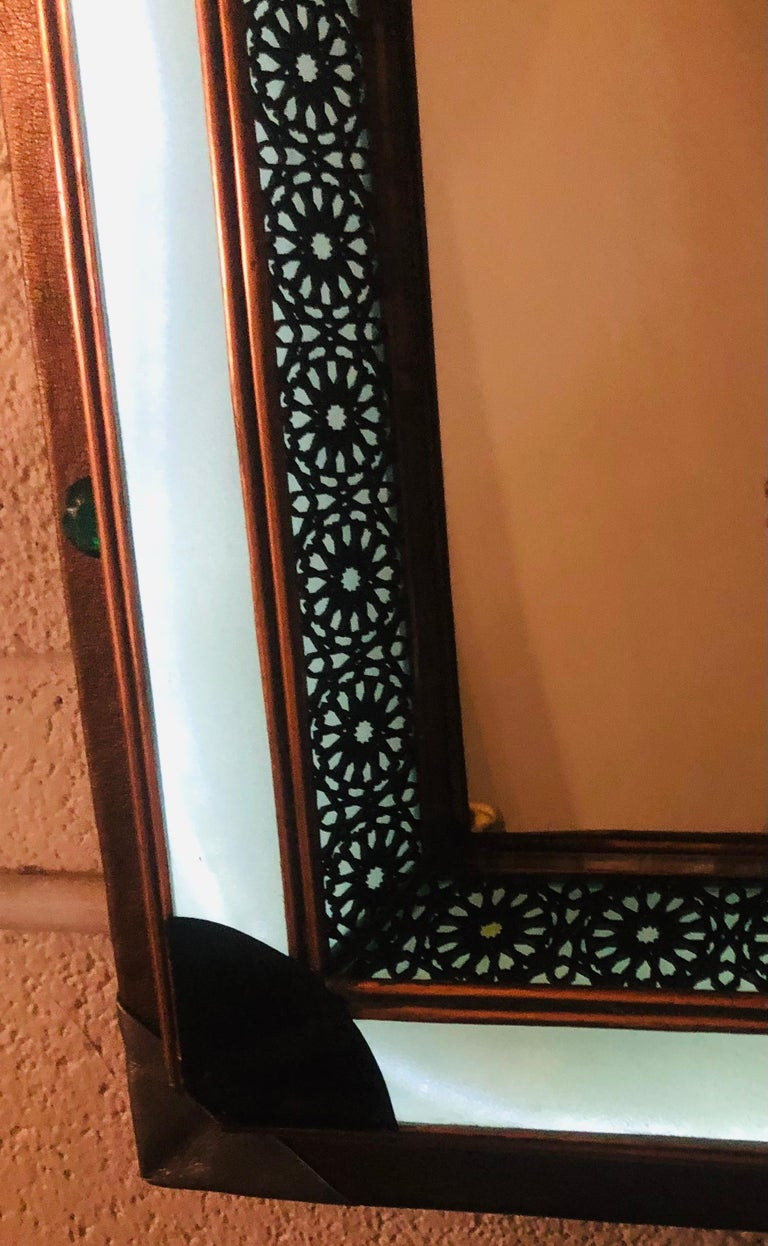 Lighted Art Deco Style Vanity Mirror or Wall Mirror For Sale 9