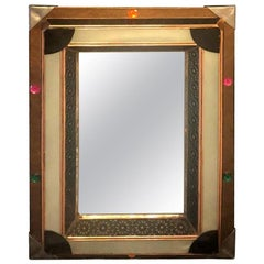 Lighted Art Deco Style Vanity Mirror or Wall Mirror