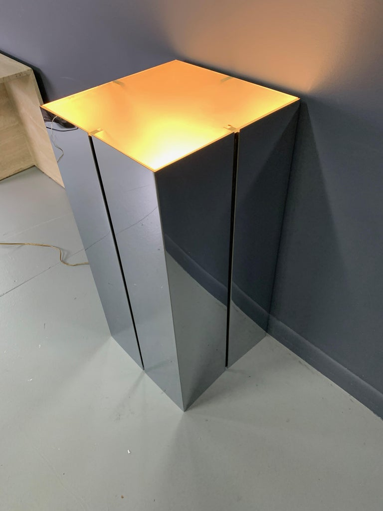 North American Lighted Pedestal by Neal Small for George Kovacs For Sale