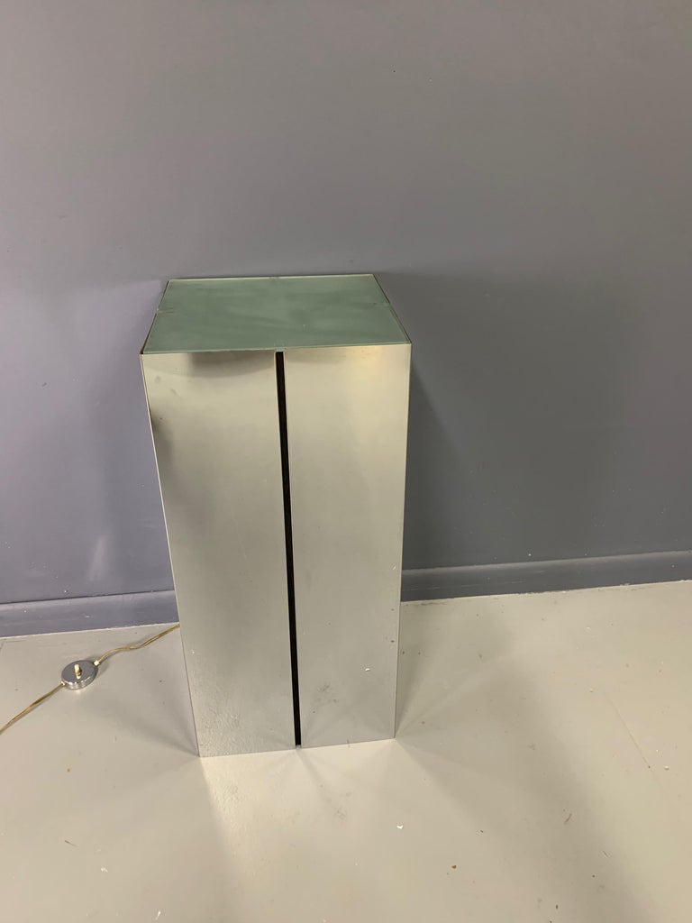 20th Century Lighted Pedestal by Neal Small for George Kovacs For Sale