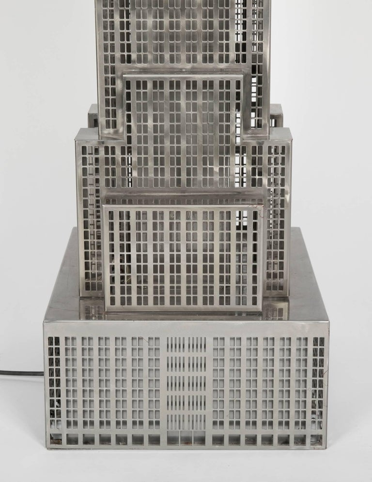 Lighted Steel Sculpture of the Empire State Building For Sale 8