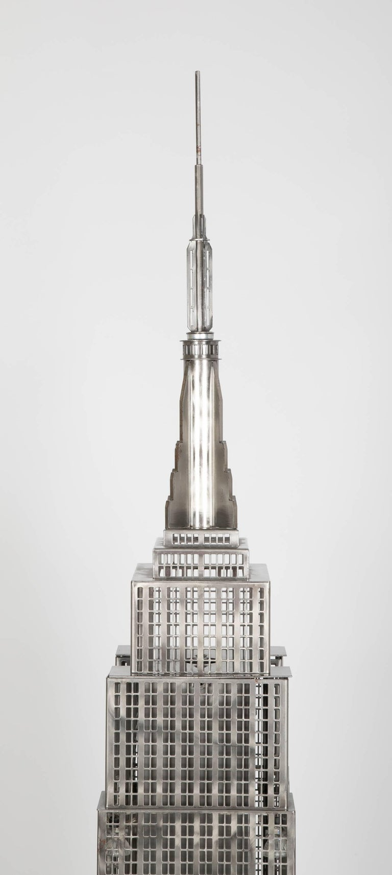 Lighted Steel Sculpture of the Empire State Building For Sale 9