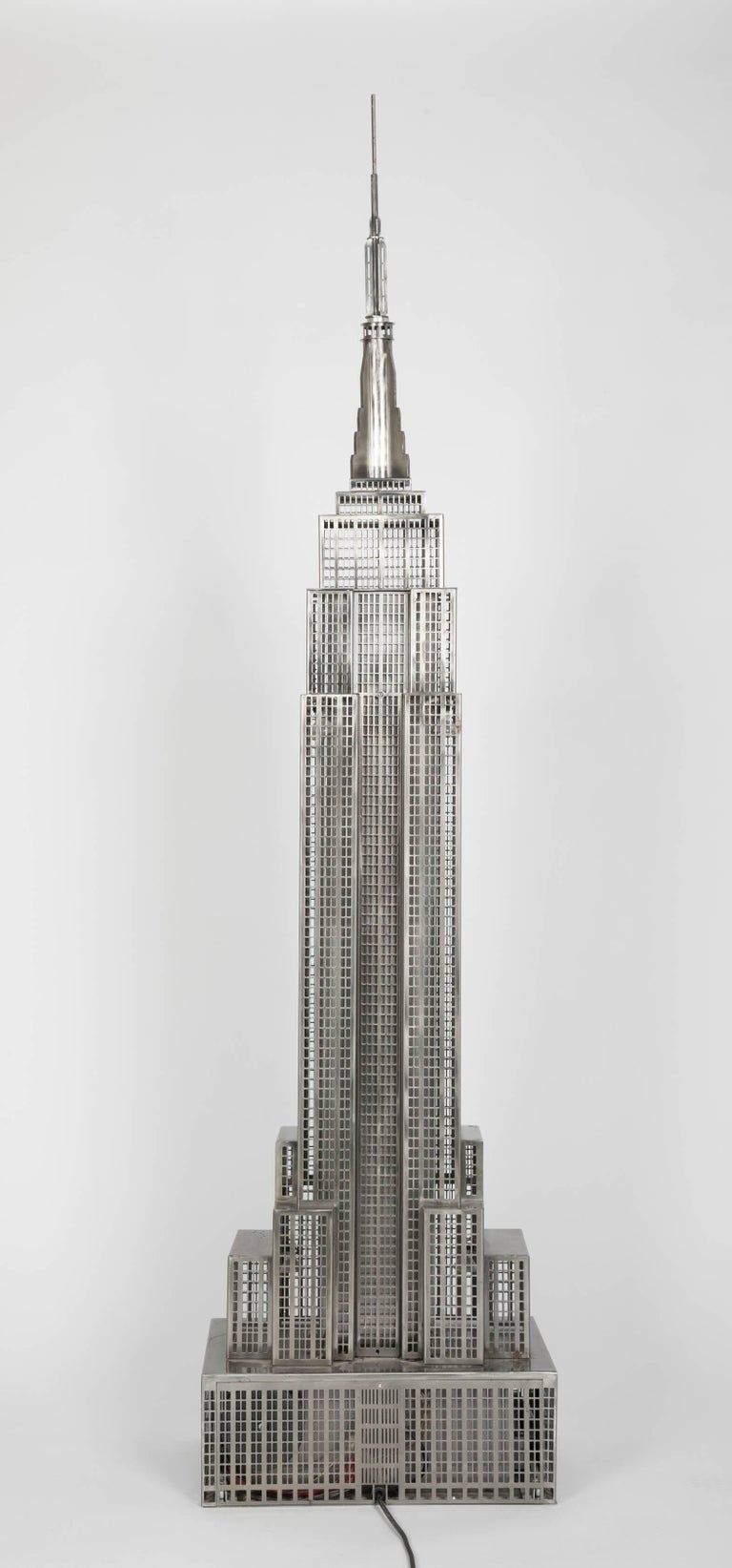 Lighted Steel Sculpture of the Empire State Building For Sale 10
