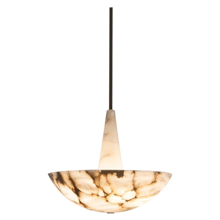 Lighting Fixture in Alabaster by Garnier & Linker For Sale