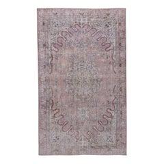 Lightly Distressed Turkish Sparta Rug, Soft Colors