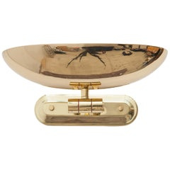 Lightolier Adjustable Brass Up Light Sconce, Italy