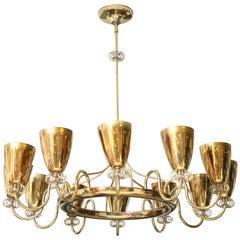 Lightolier Brass Chandelier