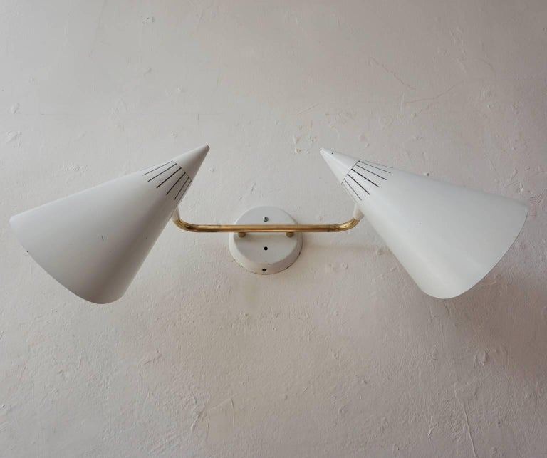 Mid-20th Century Lightolier Dual head Sconce, 1950s For Sale
