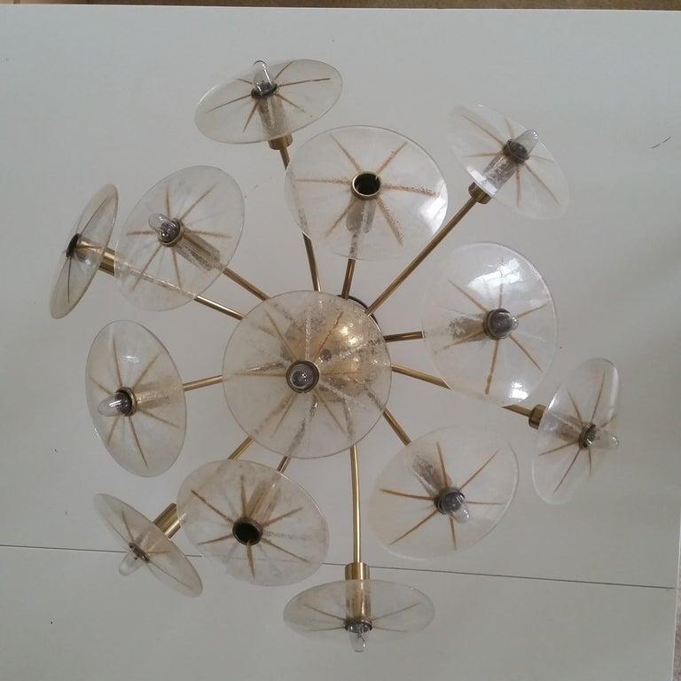 Lightolier Sunburst Flushmount Ceiling or Wall Light For Sale 5