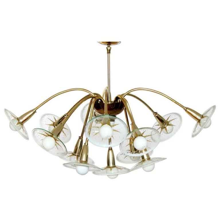 Lightolier Sunburst Flushmount Ceiling or Wall Light For Sale 9