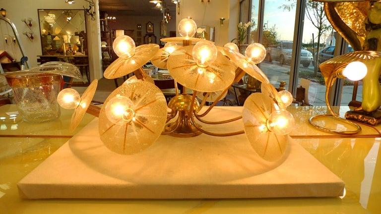 Mid-Century Modern Lightolier Sunburst Flushmount Ceiling or Wall Light For Sale