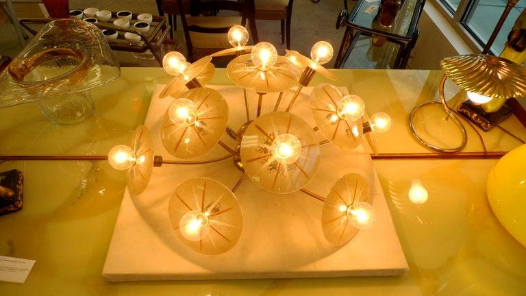 Mid-20th Century Lightolier Sunburst Flushmount Ceiling or Wall Light For Sale