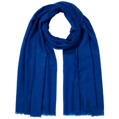 Lightweight 100% Cashmere Shawl in Blue