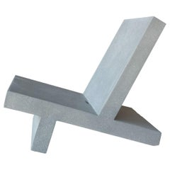 Cast Resin 'Wavebreaker' Lounge Chair, Gray finish by Zachary A. Design