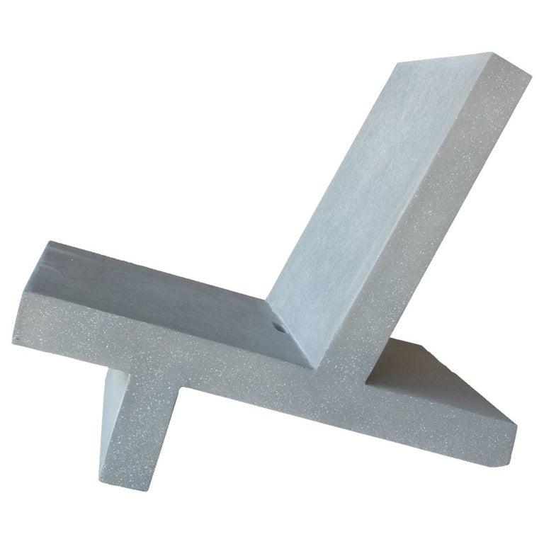 Leichter Outdoor Stuhl Gray Concrete Finish Von Zachary A Design