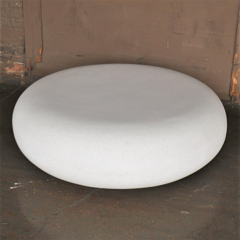 American Lightweight Outdoor Cocktail Table in 'White Stone' Finish by Zachary A. Design For Sale