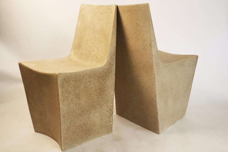 Cast Resin 'Stone' Dining Chair, Aged Stone finish by Zachary A. Design In New Condition For Sale In Chicago, IL
