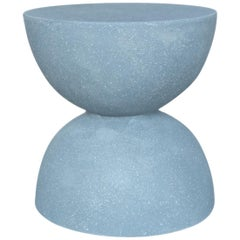 Cast Resin 'Bilbouquet' Side Table, Gray Stone Finish by Zachary A. Design