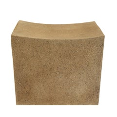 Lightweight Outdoor Stool in 'Aged Concrete' finish by Zachary A. Design