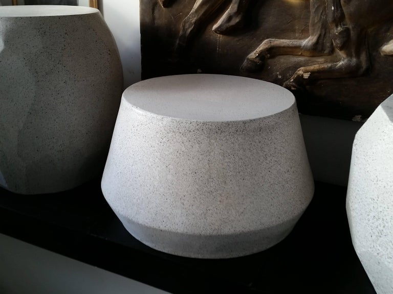 American Cast Resin 'Tom' Cocktail Table, Natural Stone Finish by Zachary A. Design For Sale