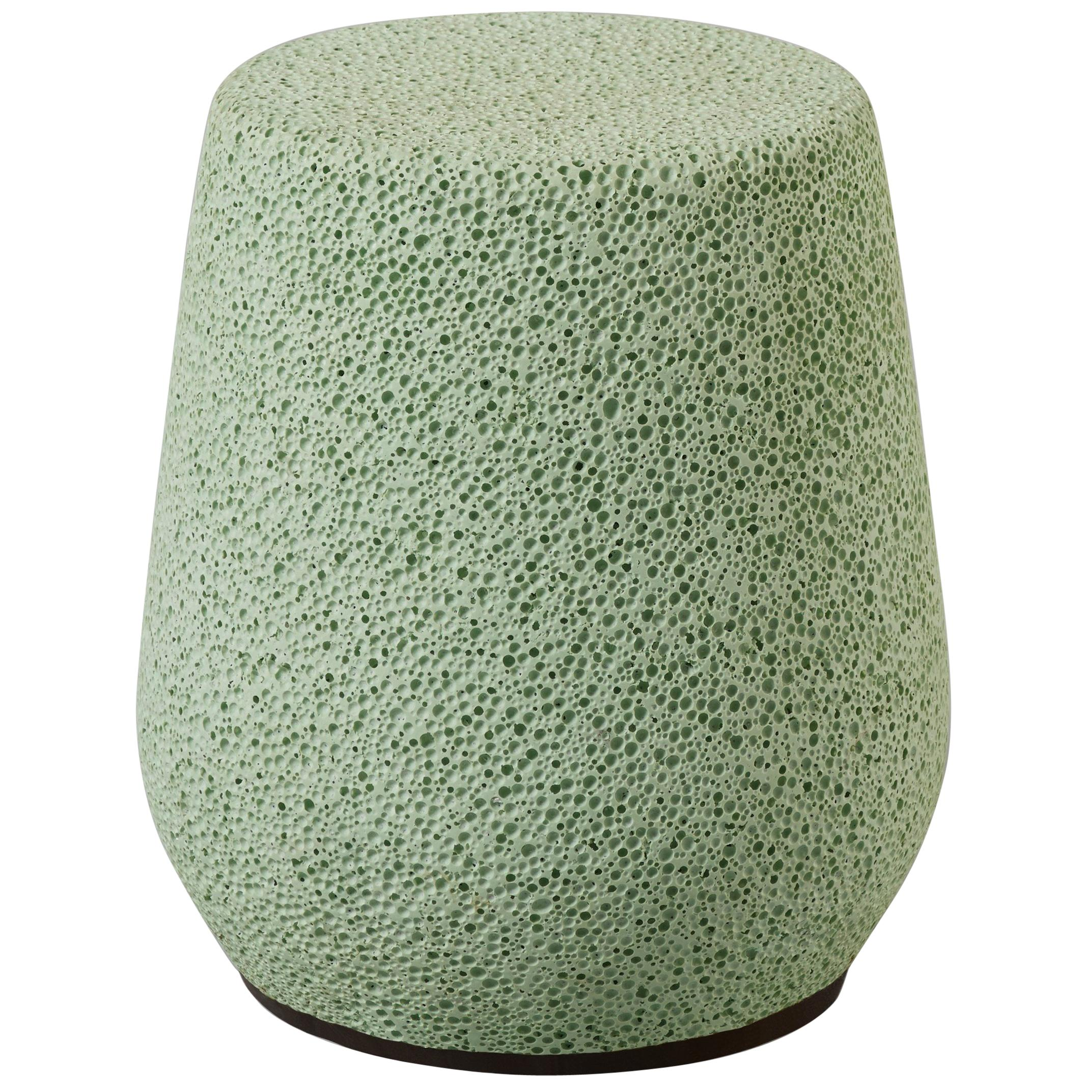 'Lightweight Porcelain' Children's Stool and Side Table by Djim Berger - Green
