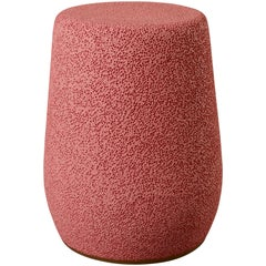 'Lightweight Porcelain' Stool and Side Table by Djim Berger, Color: Lipstick