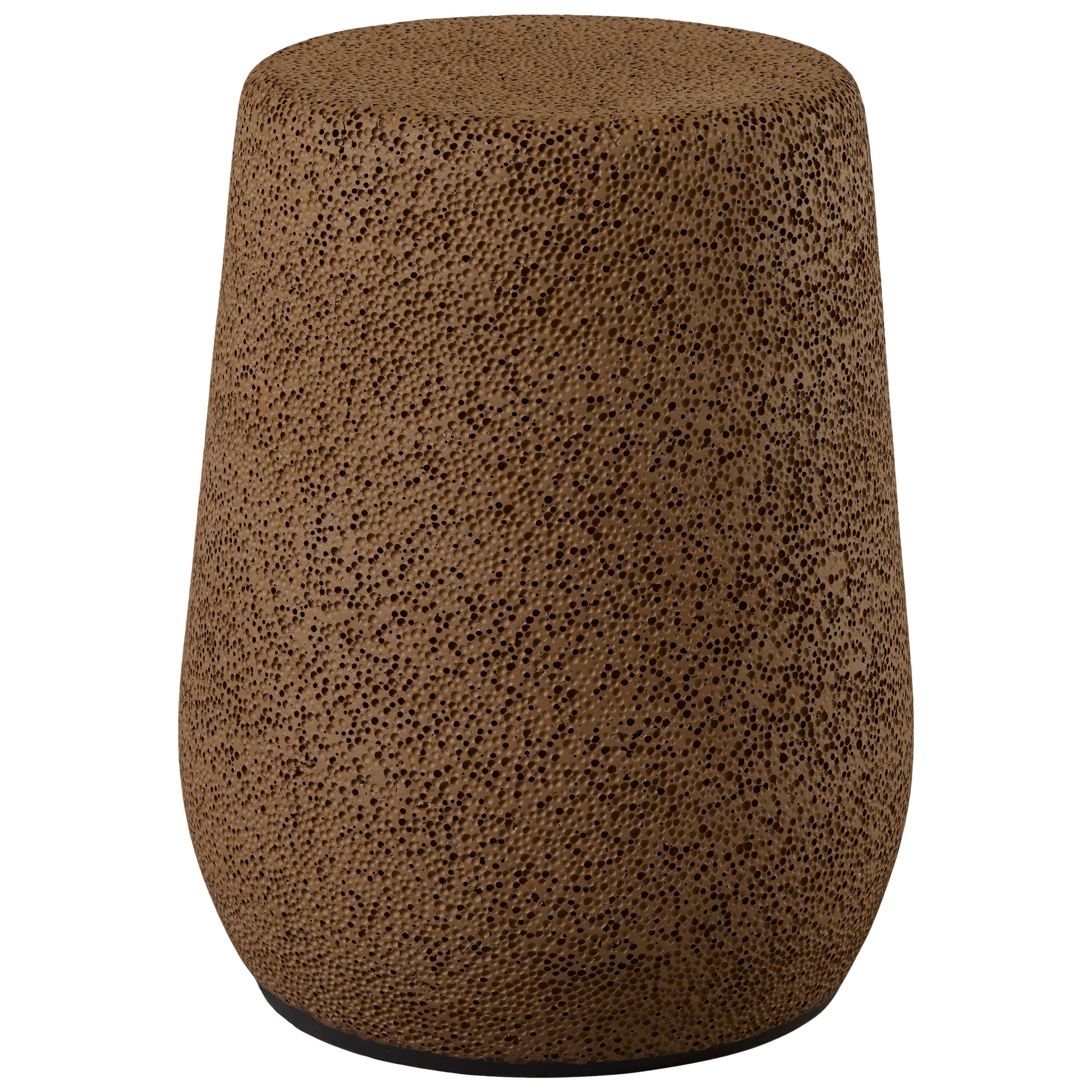 'Lightweight Porcelain' Stool and Side Table by Djim Berger - Chocolate Brown