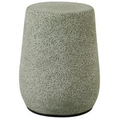 'Lightweight Porcelain' Stool and Side Table by Djim Berger - Grey Green