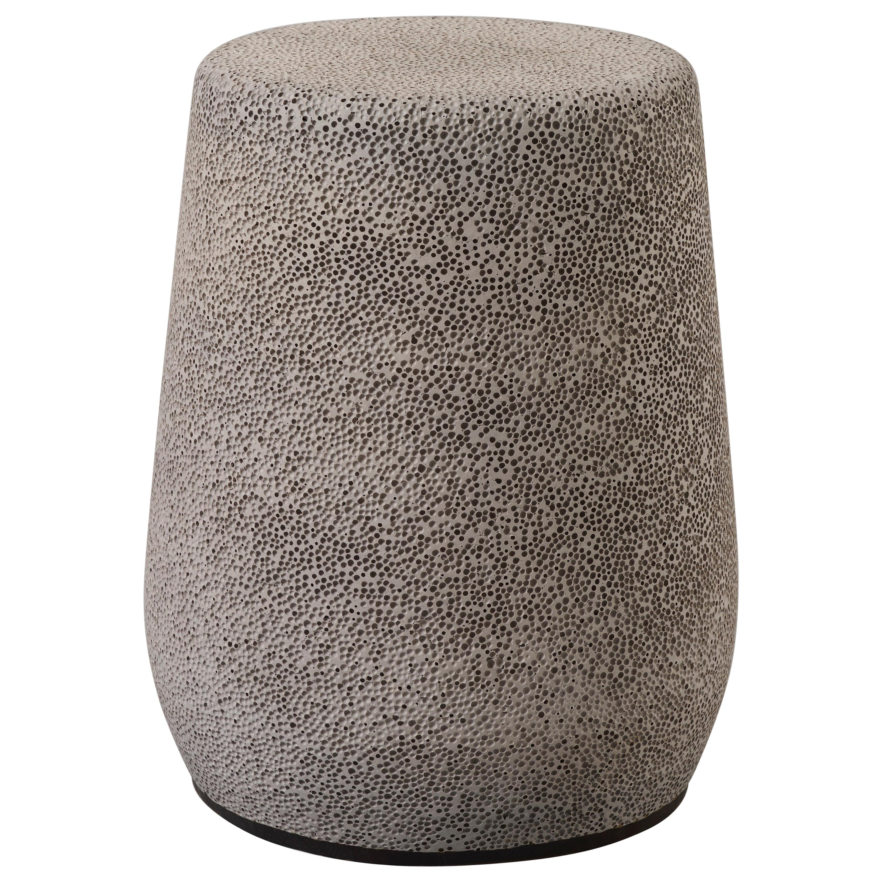 'Lightweight Porcelain' Stool and Side Table by Djim Berger - Medium Grey