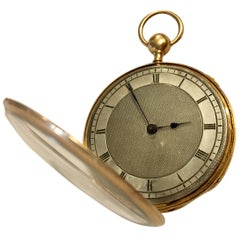 Lightweight Slim 14 Karat Gold Quarter Repeater Pocket Watch