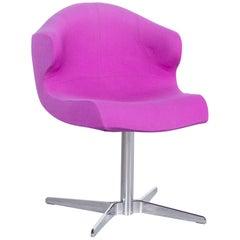Ligne Roset Alster Designer Fabric Armchair Purple One-Seat Chair