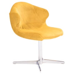 Ligne Roset by Emmanuel Dietrich Alster Yellow Velvet Swivel Chair, 2011