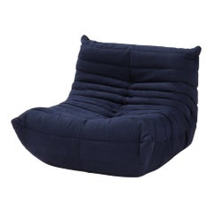 Ligne Roset by Michel Ducaroy Togo Dark Blue Armchair