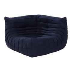 Ligne Roset by Michel Ducaroy Togo Dark Blue Corner Sofa