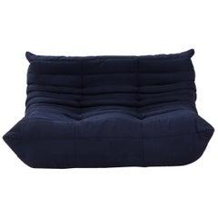 Ligne Roset by Michel Ducaroy Togo Dark Blue Modular Two Seater Sofa