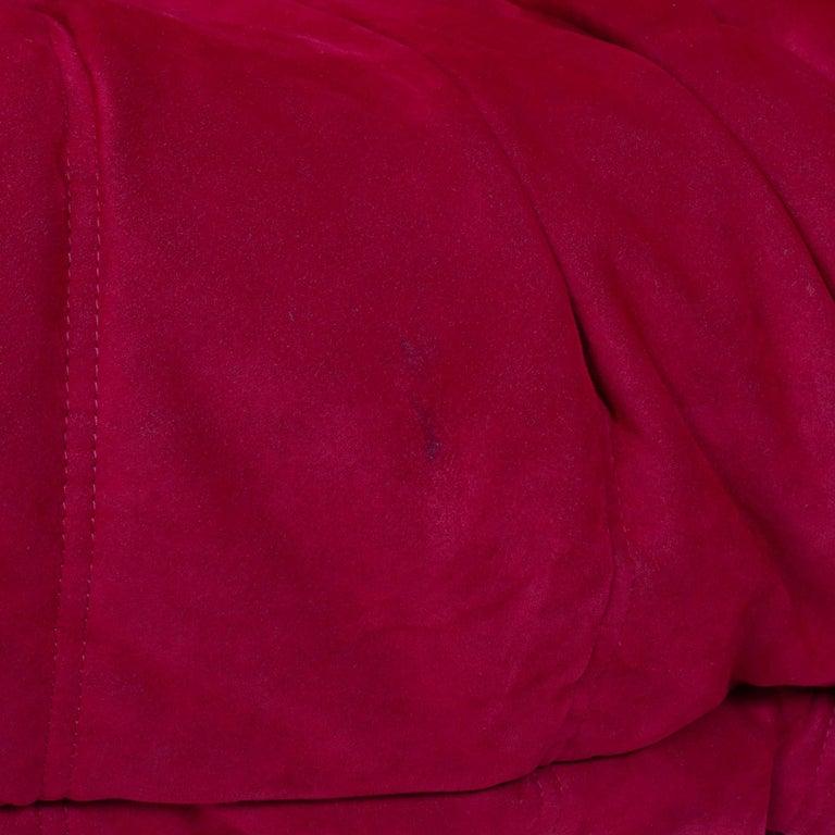 Ligne Roset by Michel Ducaroy Togo Red Suede Corner Sofa For Sale 2