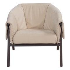 Ligne Roset by Studio Catoir Okumi Cream Leather Armchair