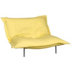 Ligne Roset Calin Designer Fabric Armchair Yellow Armchair