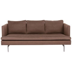 Ligne Roset Fabric Sofa Brown Three-Seat Couch
