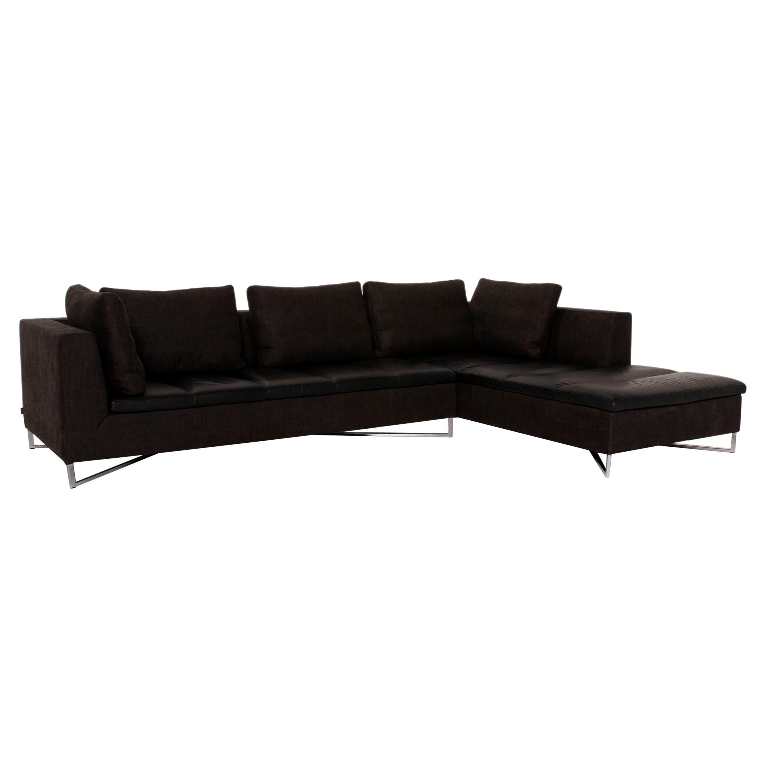 Ligne Roset Feng Leather Sofa Corner Sofa Fabric
